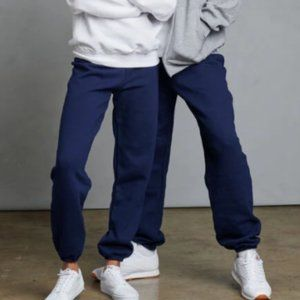 Russell Athletic Closed Bottom Navy Sweatpants